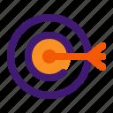 aim, digital, goal, marketing, target icon