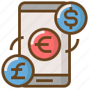 commerce, digital, exchange, marketing, money, technology, website icon