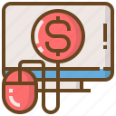 commerce, computer, digital, marketing, money, technology, website icon
