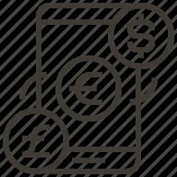 digital, exchange, marketing, money, service, social, website icon