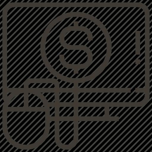 advertising, digital, marketing, money, service, social, website icon