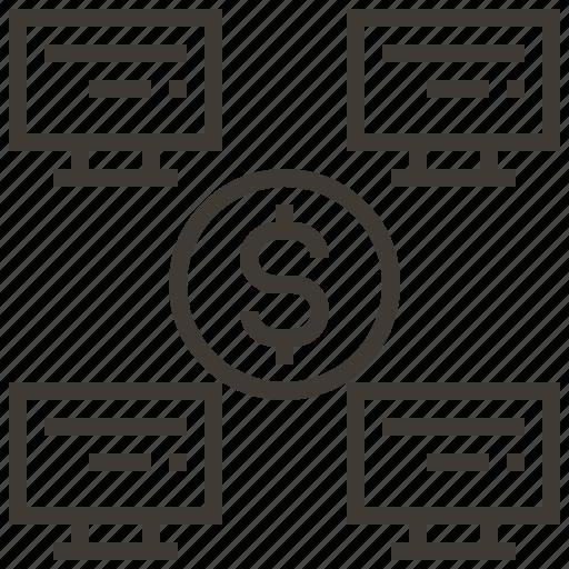 advertising, connection, digital, marketing, service, social, website icon