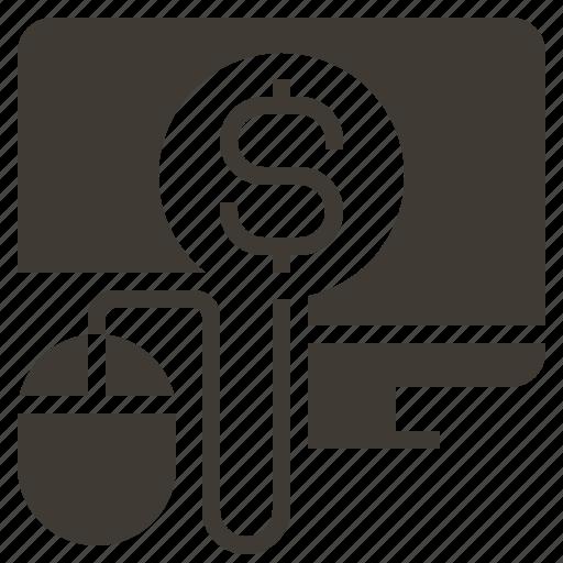 commerce, computer, digital, management, market, marketing, solid icon