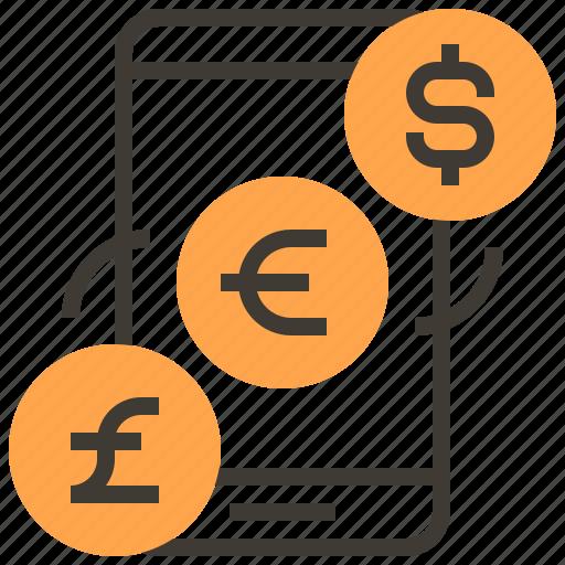 commerce, digital, exchange, marketing, money, smartphone, strategy icon