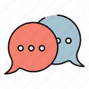 chat, share, sharing, social icon
