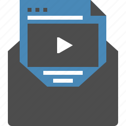 advertising, email, marketing, media, message, seo, video icon