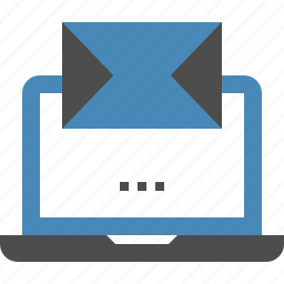 advertising, communication, email, laptop, mail, marketing, message icon