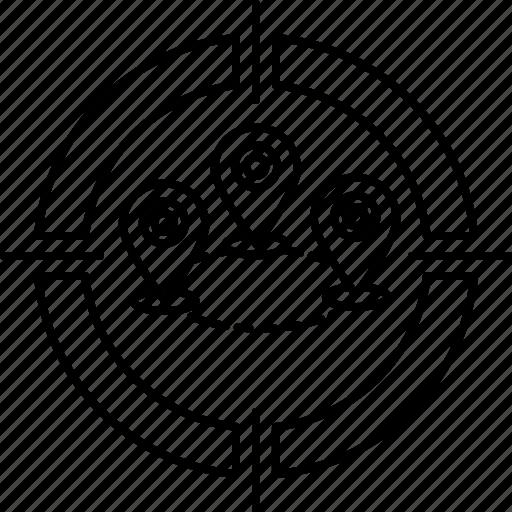 gps, location, location targeting, navigation, targeting icon