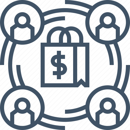 affiliate, business, digital, ecommerce, marketing, shopping icon