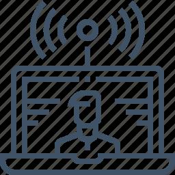 digital, live, marketing, online, stream, video, webcam icon