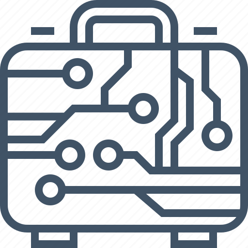 business, digital, internet, marketing, online, suitcase icon