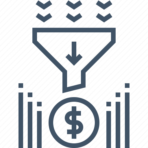 digital, financial, funnel, marketing, money, payment, sales icon