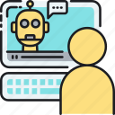 ai, artificial intelligence, bot, chat, chatbot, robot icon