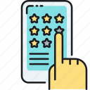 rate, ratings, review, reviews, stars icon