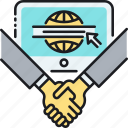 agreement, deal, handshake, partner, partnership, sites icon