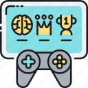 achievement, controller, game, gamification, leaderboard icon