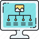 chart, infographic, organizational chart icon