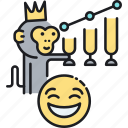emoji, funny, joke, meme, monkey icon