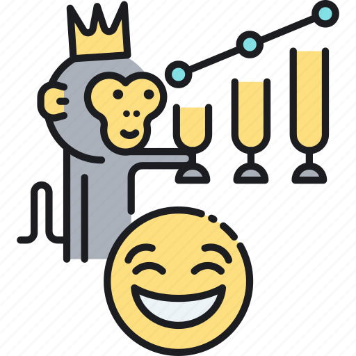 emoji, funny, joke, meme, monkey icon