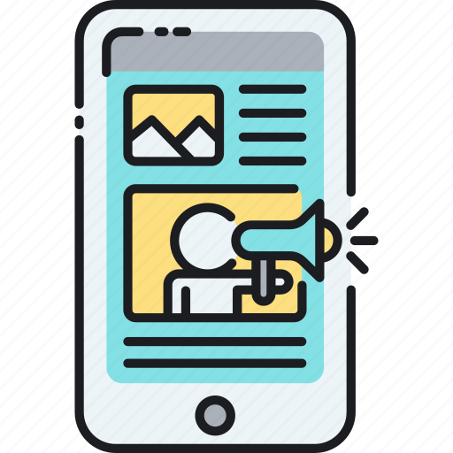 advertising, banner ad, marketing, mobile, smartphone icon
