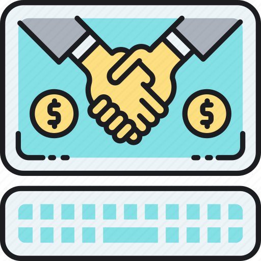 business, collaboration, handshake, online, partnership icon