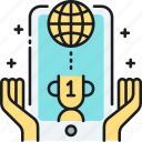 award, competition, contest, leaderboard, mobile, online, ranking icon