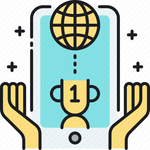 Award, competition, contest, leaderboard, mobile, online, ranking icon - Download on Iconfinder