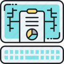 analysis, analytics, digital report, online report, pie chart, report, statistics icon