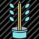 fresh content, organic, organic content icon
