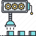 automation, factory, industrial, manufacturing, production, robotic, technology icon