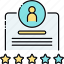 feedback, ranking, ratings, reviews, stars, testimonial icon