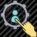 aim, focus, target, target market, targeting icon