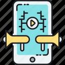megaphone, speaker, viral, viral content, viral video, virality icon