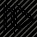 element, forward, media, ui, ux icon