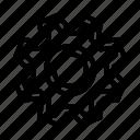 element, gear, media, setting, ui, ux icon