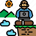 digital nomad, freedom, life, life style, work icon