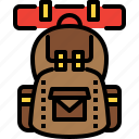 backpack, camping, tourism, travel, vacation icon