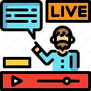 media, player, video, vlog, vlogger icon