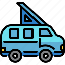 camper, car, transport, transportation, van, vehicle icon