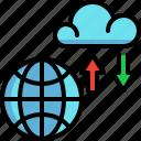 cloud, data, database, file, server, storage