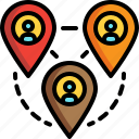 location, map, remote, working icon