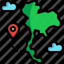 island, koh, lanta, map, thai, thailand icon