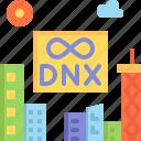 building, city, digital nomad, dnx, festival icon