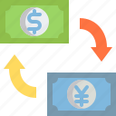 business, cash, currency, exchange, finance, money, payment icon