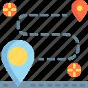 journey, location, map, navigation, transport, transportation, travel icon