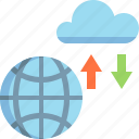 business, cloud, data, database, files, server, storage icon
