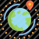 around, earth, global, globe, gps, location, world icon