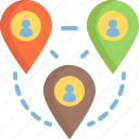 gps, location, place, remote, working icon
