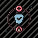 digital, lock, nomad, safe, secure, security icon