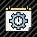 calendar, digital, nomad, schedule, time icon